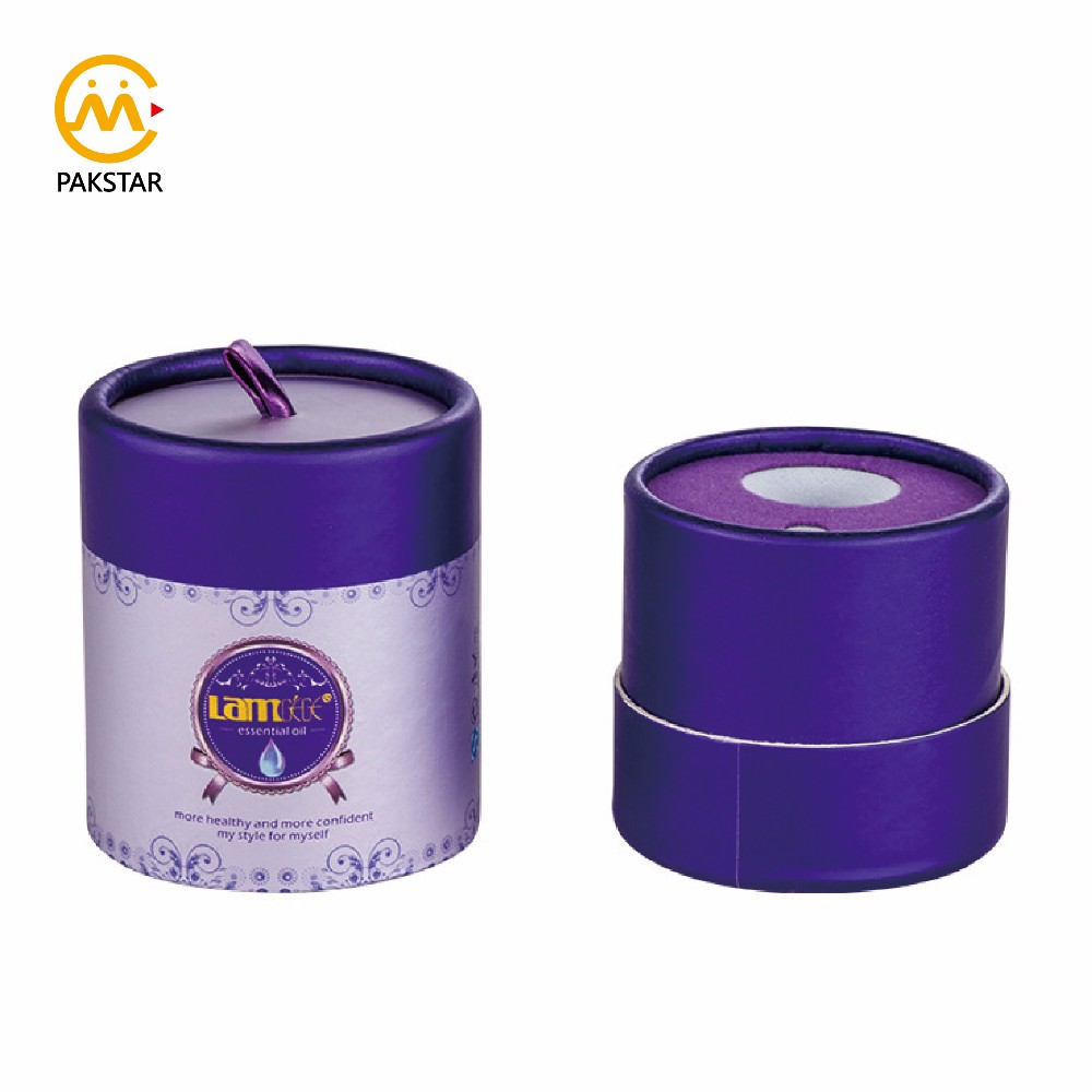 Luxury custom printing round cylinder paper gift packaging box for cosmetic jar