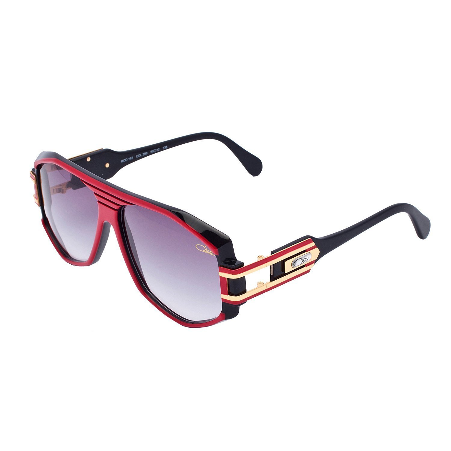 35acc7ff69a Get Quotations · Cazal 163 Sunglasses Color 200SG Red black