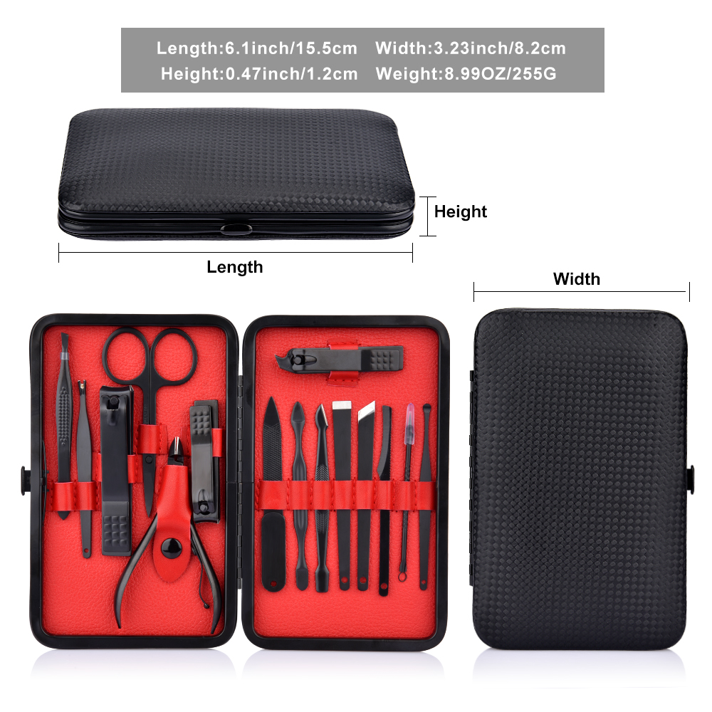 15 stks Professionele Manicure Set Pedicure Mes Teen Nagelknipper Cuticle Dead Skin Remover Kit Rvs Voeten Care Tool set