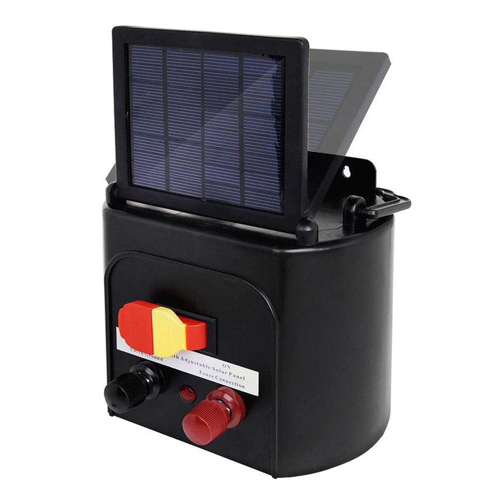 Solar Power Electric Fence Charger Energizer with Solar ...