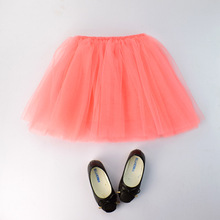 New Style Customc Girls Fluffy 4 layers Tutu Pettiskirts with lined