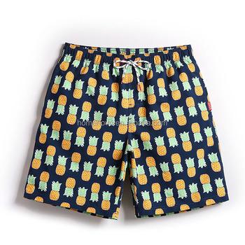 a5014af40b Quick Dry Men Beach Shorts Summer Board Shorts Sport Swimming Trunks  Pineapple Printed Men's Sportswear Surf