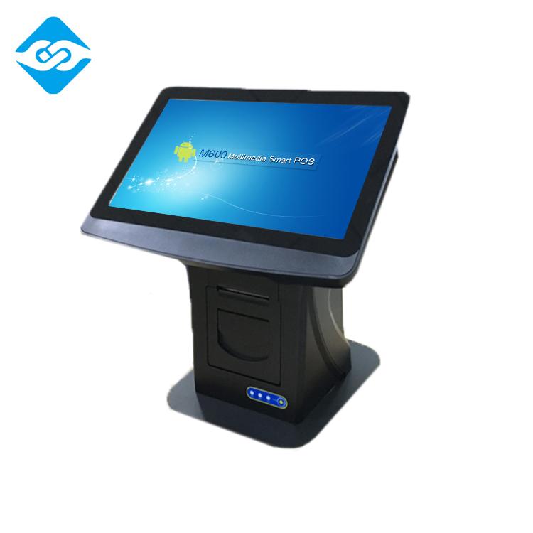 EP-D90A アンドロイドデュアルタッチスクリーンデスクトップホテルチェックインためセルフサービス pos 端末による認識 ID カード/パスポート (opt