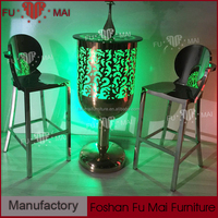 multi-color rgb LED table party lounge furniture cocktail table