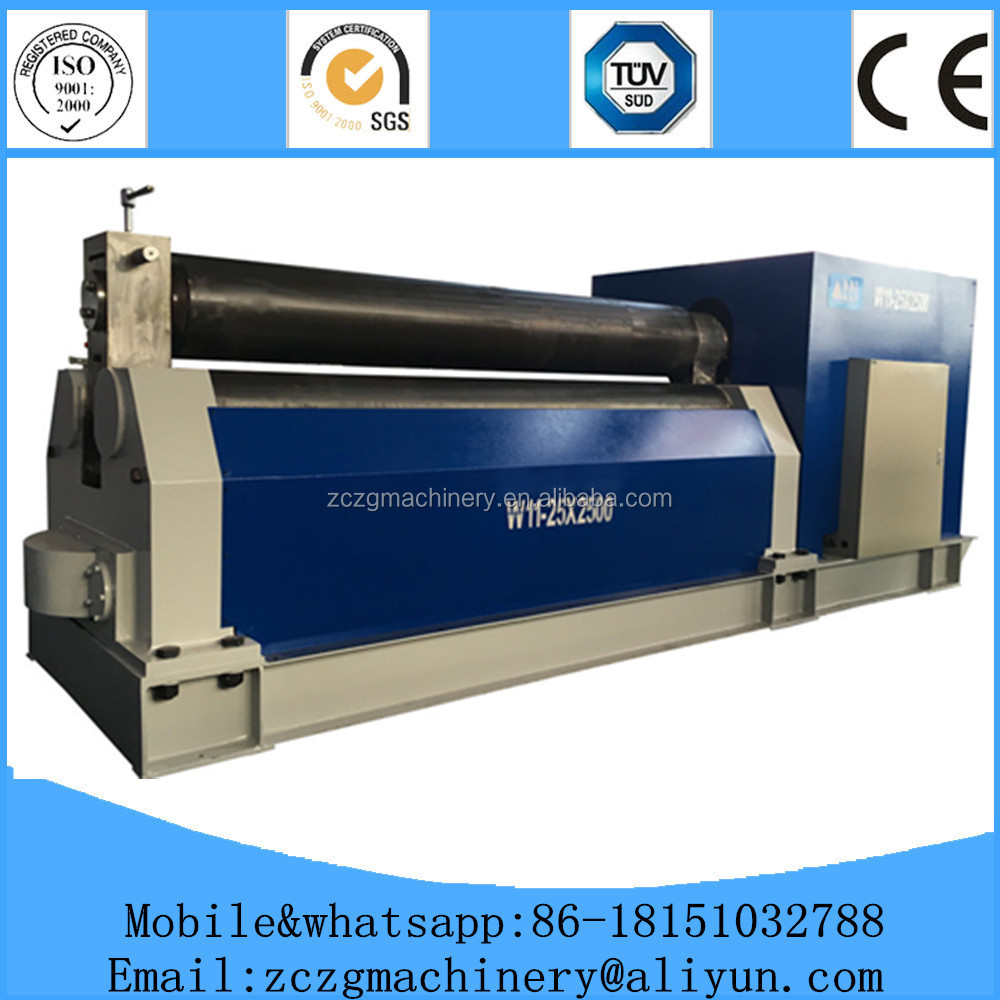 6 * 3200 W11 used three rollers hydraulic steel sheet joint plate rolling machine