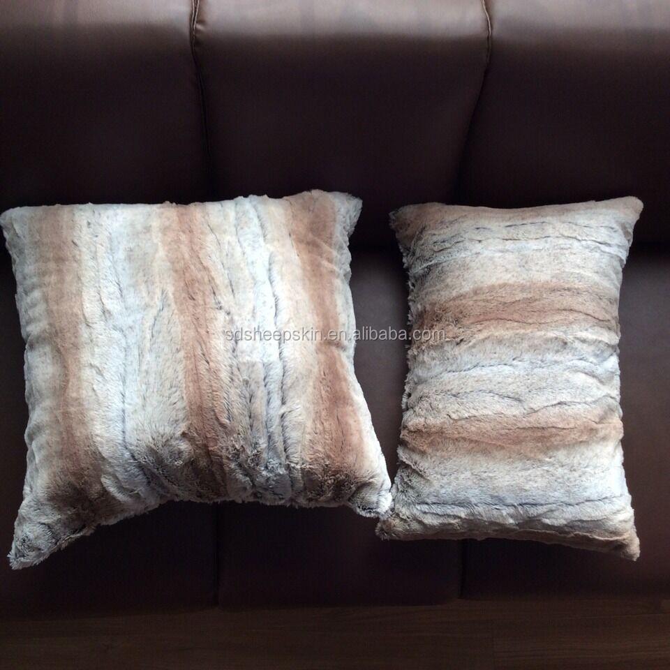 Faux Fur Pillow Cases Mongolian Lamb Colorful Pillows Faux Fur ...