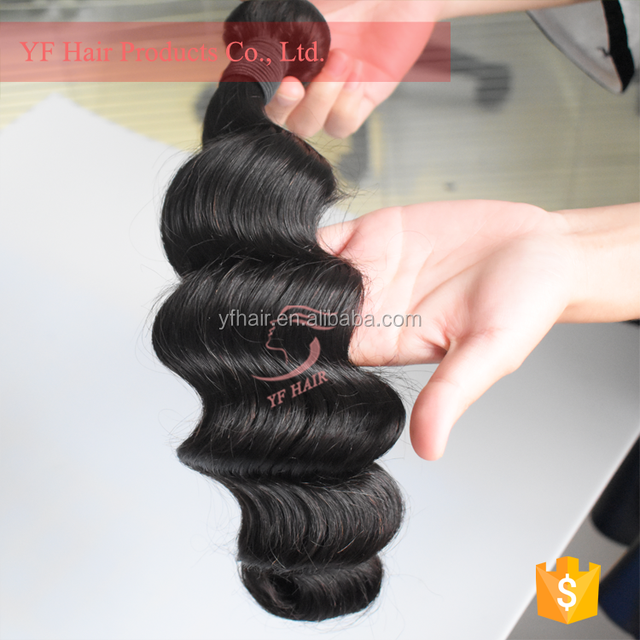 Virgin peruvian remy hair, natural hair extension loose deep free shipping, raw unprocessed wave
