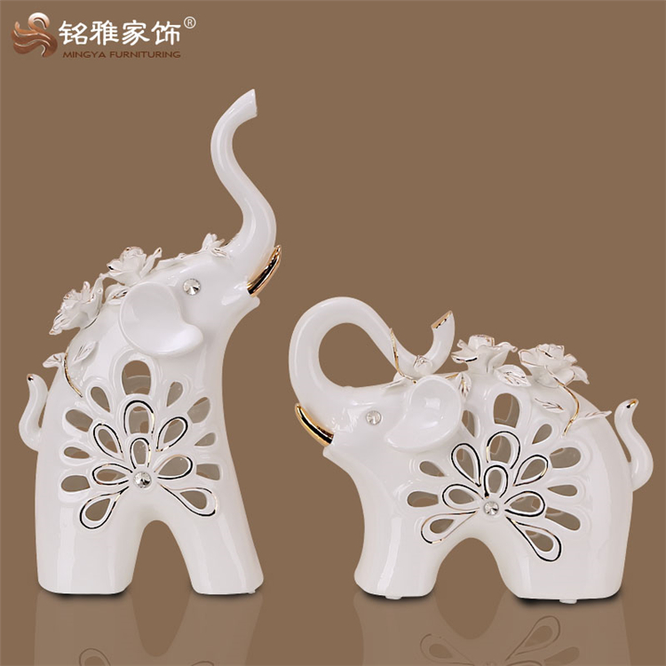 Modern European house decorative festival ceramic elephant figure