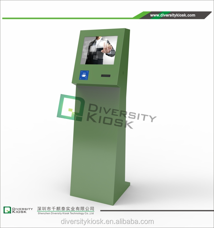 dual screen financial service kiosk all in one touch interactive kiosk