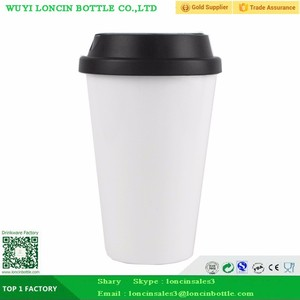 Plastic Mug Coffee Cups Wholesale Take Away Coffee Cups,Double Wall Plastic Coffee Mug For Reusable,Acrylic Cafe Cup For Cup