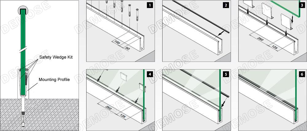 Building Materials Prefabricated Balcony Glass Handrails