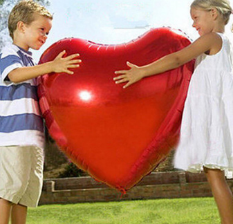 (DX-QQ-0036)HEART-SHAPED RED NON LATEX BALLOONS