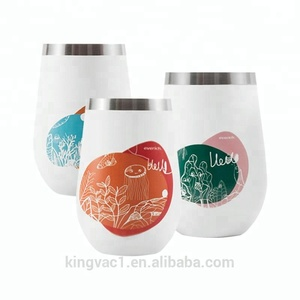 Wholesale flasks stainless steel wine cup cute reusable coffee cups