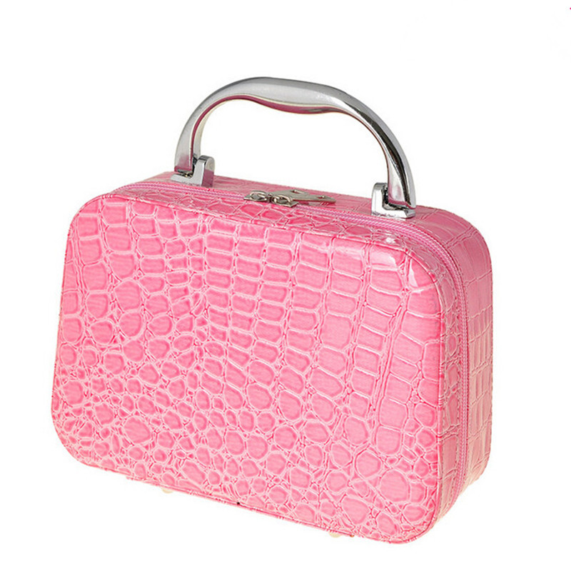 Cosmetic box Fashion women Quilted professional cosmetic bag women's large capacity storage handbag makeup bag travel necessary