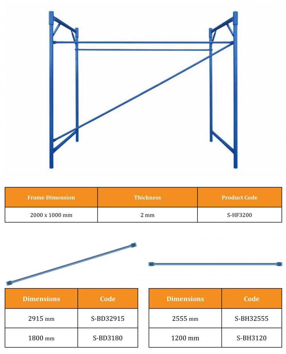 Escalera H Y Puerta De Acero Tubular Metal Un Andamio De Marco - Buy ...