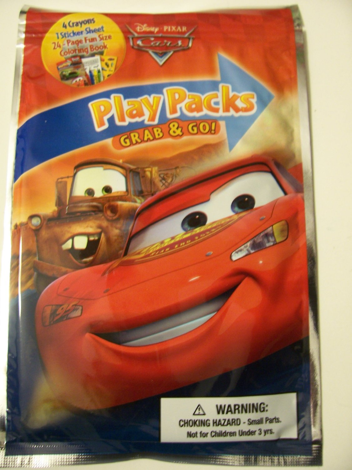 Disney Cars Grab & Go Play Packs ~ Lightning McQueen & Tow Mater