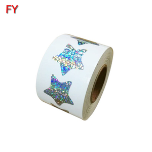 High quality self adhesive blank thermal glitter sticker sheet label
