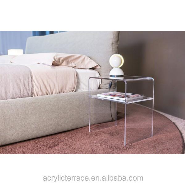 simple et l gante transparente transparente perspex acrylique table de chevet 40x30 h 45 avec