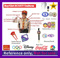 Boy/Girls Scout Uniform embroidery neckerchief