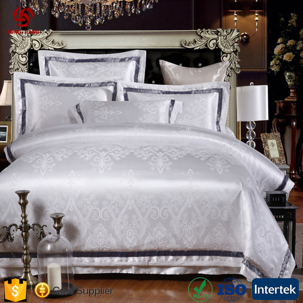 Whosale 3D Luxury Cotton Jacquard Comforter Set Cotton Bed Sheets Bedding Sets