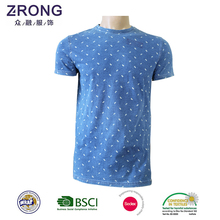 Wholesale Cheap blue and white Mens Custom Made T-shirt Custom Logo Promotion T Shirts
