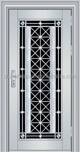 Main gate stainless steel door designs ss 0027 buy for Door design steel