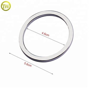 OR03 Wholesale Zinc Alloy O Ring Metal Handbag Accessories Flat Round Ring