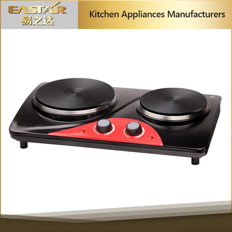 Dapur Lience Industri Kompor Listrik Hot Plate 2 Burner Memasak Pemanas Tenaga Surya