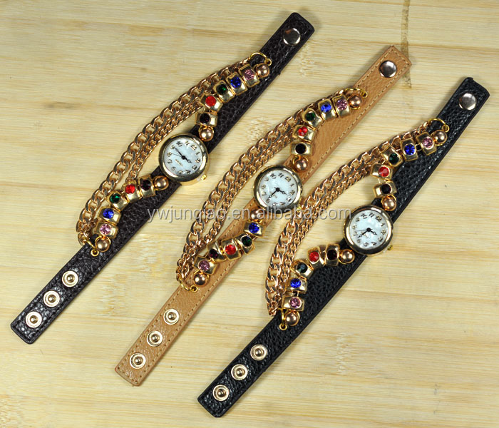 Many beauty models watces shopping online. Fashion lady leather bracelet watches shopping online.
