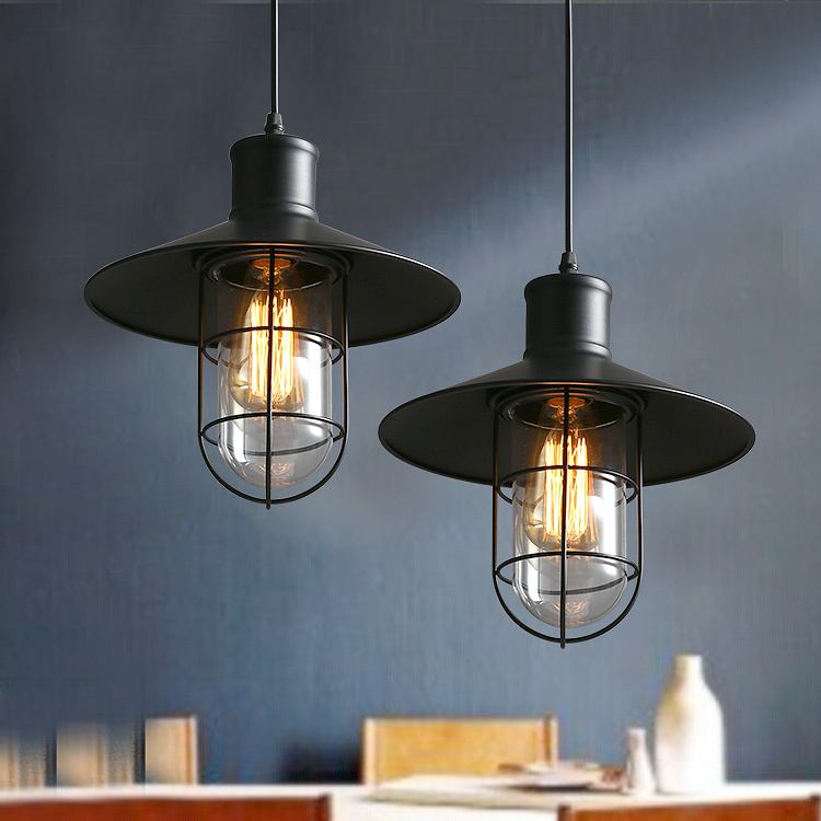 America Country Style Industiral Pendant Light Kitchen