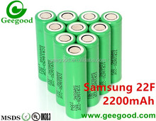 Samsung SDI INR18650-22F 22F M 2200mAh 2C green 18650 battery for laptop / power bank / backup battery