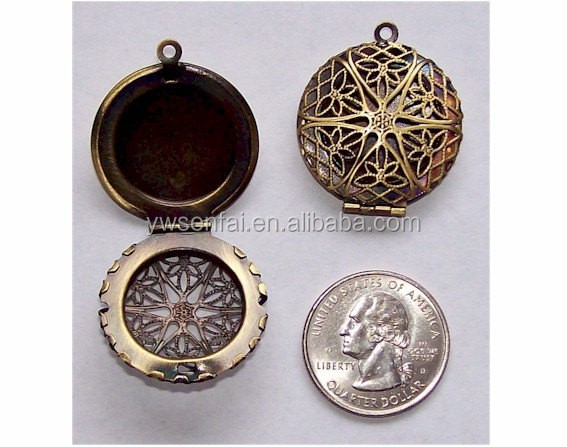 Best selling new product fashion jewelry metal open vintage perfume locket