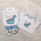 Summer Newborn Baby Gift 5pcs Set 100% Cotton Infant Baby Clothing sets