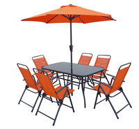 8 pcs set folding outdoor garden furniture