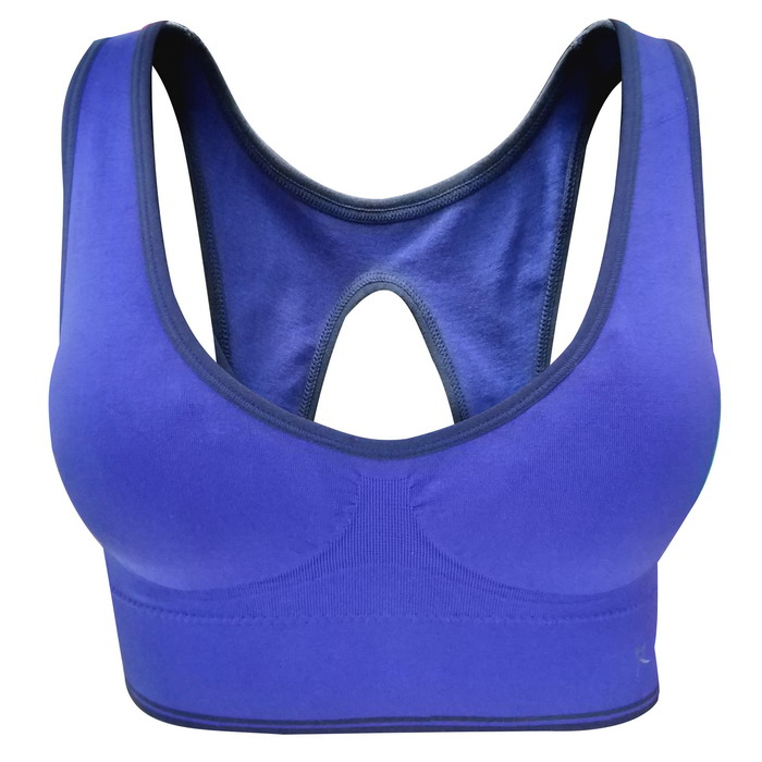 Hot Sale Polyester Spandex fitness running activewear tops seamless sexy bra and panty new design sports bra