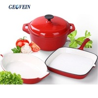 Germany enamel cast iron cookware set for kitchen