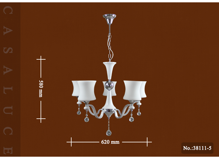 Indoor living room light factory glass lampshades vintage modern crystal chandelier lighting