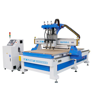 Latest heavy duty ce certified multi spindle wood carver 3 head cnc router