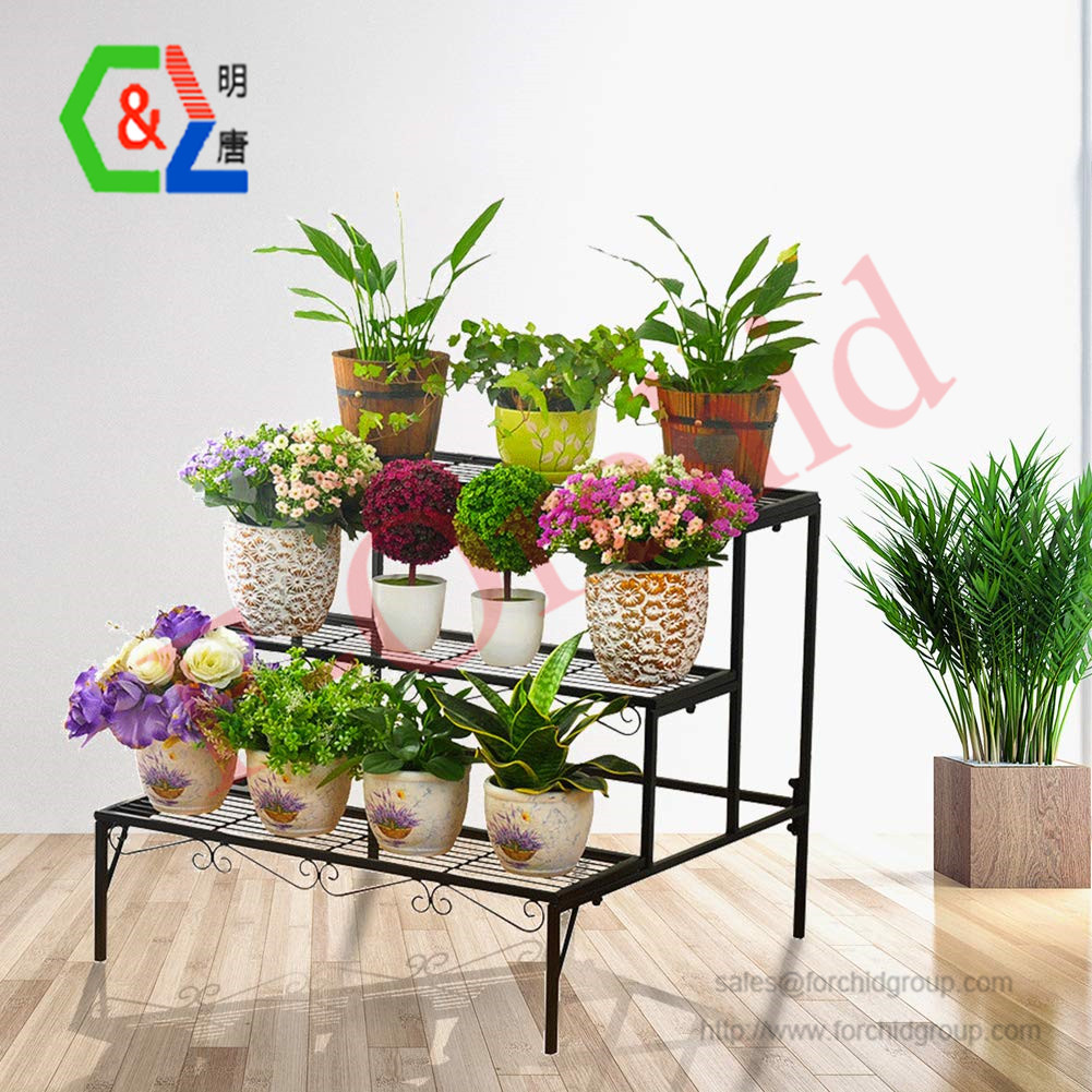 Plant Stand 3 Tier Stair Style Metal Plant Holder Patio Iron Plant Rack Step Design Garden Shelf For Large Flower Pot Display Ra Buy Ijzeren Bloempot Rack Bloem Display Rack Metalen Bloem Pot