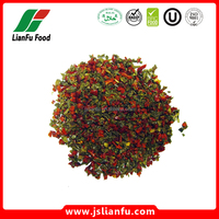 Dehydrated dried AD red and green bell pepper mixed