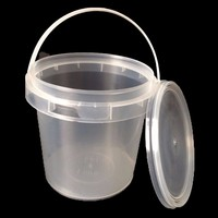 Food grade transparent 500ML 1L 2L plastic bucket for honey