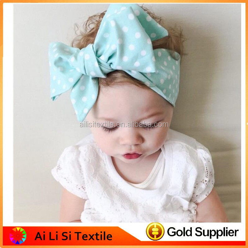 Baby Cotton Knitted Bow Tie Headband ,Baby Girl Happy Fashion Accessories, Unique Girls Accessories