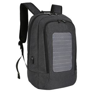 OEM service sample offer solar panel charger backpack, solar backpack with speakers