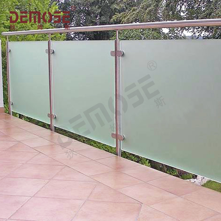 Outdoor Eksterior Kaca Railing Kaca Railing Balkon Tangga Kaca