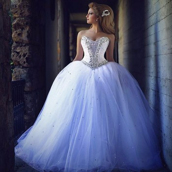 Ne028 Beading Princess Wedding Dresses 2017 Vestido De Noiva ...