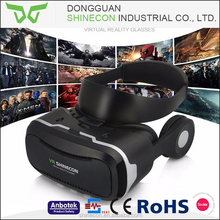 2017 New design 3d vr headset , virtual reality vr glasses with headphone