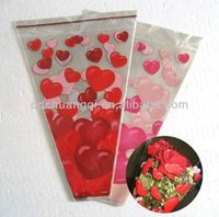 Printed Opp Trapezoid Flower Bags