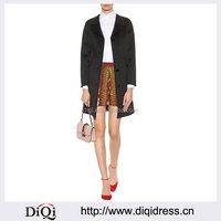 Customized Lady Apparel Extra Soft Wam Feel Flap Pockets Virgin Wool Coat(DQM004C)