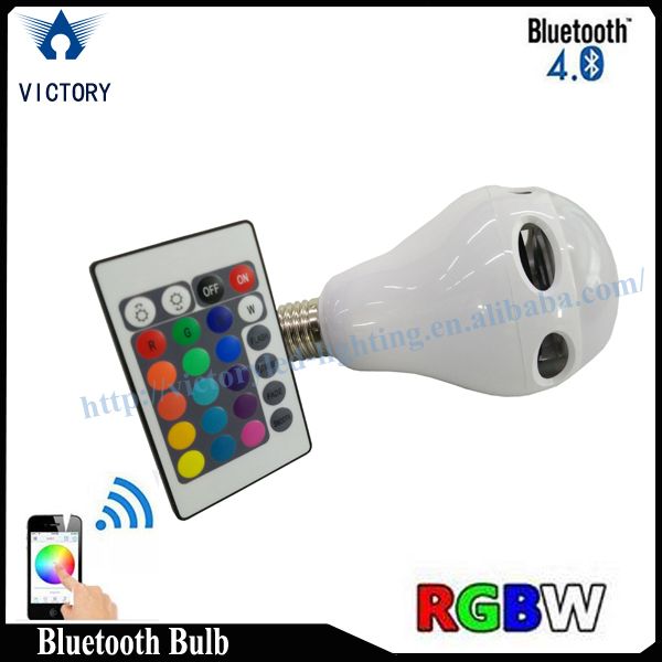 Best choice for10w Xmas gifts LED Bulb lighting bluetooth speaker RGBW Color change