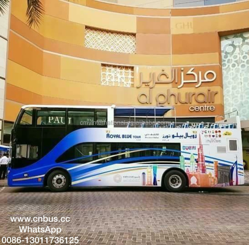 66 seater half open top sightseeing bus with GCC certificate